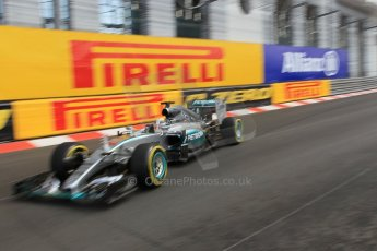World © Octane Photographic Ltd. Mercedes AMG Petronas F1 W06 Hybrid – Lewis Hamilton. Thursday 21st May 2015, F1 Practice 1, Monte Carlo, Monaco. Digital Ref: 1272CB1L9727
