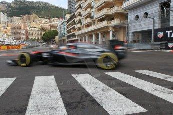 World © Octane Photographic Ltd. McLaren Honda MP4/30 – Fernando Alonso. Thursday 21st May 2015, F1 Practice 1, Monte Carlo, Monaco. Digital Ref: 1272CB1L9751