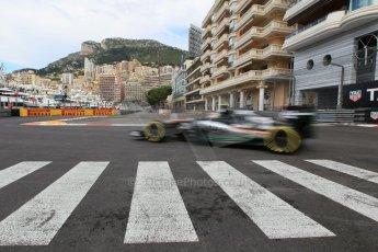 World © Octane Photographic Ltd. Sahara Force India VJM08 – Sergio Perez. Thursday 21st May 2015, F1 Practice 1, Monte Carlo, Monaco. Digital Ref: 1272CB1L9769