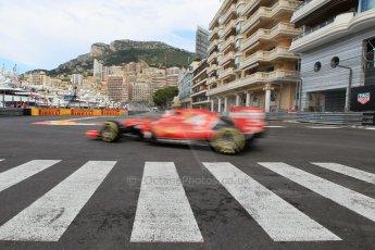 World © Octane Photographic Ltd. Scuderia Ferrari SF15-T– Kimi Raikkonen. Thursday 21st May 2015, F1 Practice 1, Monte Carlo, Monaco. Digital Ref: 1272CB1L9781