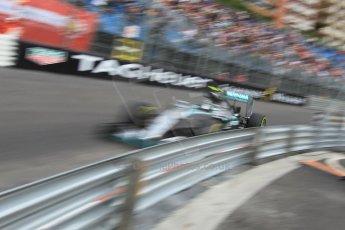 World © Octane Photographic Ltd. Mercedes AMG Petronas F1 W06 Hybrid – Nico Rosberg. Thursday 21st May 2015, F1 Practice 1, Monte Carlo, Monaco. Digital Ref: 1272CB1L9789