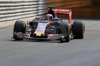 World © Octane Photographic Ltd. Scuderia Toro Rosso STR10 – Max Verstappen. Thursday 21st May 2015, F1 Practice 1, Monte Carlo, Monaco. Digital Ref: 1272CB7D2751