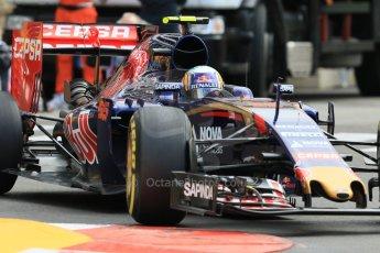 World © Octane Photographic Ltd. Scuderia Toro Rosso STR10 – Carlos Sainz Jnr. Thursday 21st May 2015, F1 Practice 1, Monte Carlo, Monaco. Digital Ref: 1272CB7D2910