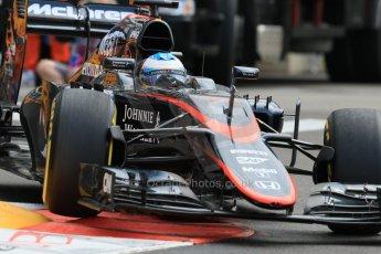 World © Octane Photographic Ltd. McLaren Honda MP4/30 – Fernando Alonso. Thursday 21st May 2015, F1 Practice 1, Monte Carlo, Monaco. Digital Ref: 1272CB7D2943