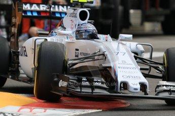 World © Octane Photographic Ltd. Williams Martini Racing FW37 – Valtteri Bottas. Thursday 21st May 2015, F1 Practice 1, Monte Carlo, Monaco. Digital Ref: 1272CB7D2955