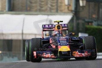World © Octane Photographic Ltd. Infiniti Red Bull Racing RB11 – Daniil Kvyat. Thursday 21st May 2015, F1 Practice 1, Monte Carlo, Monaco. Digital Ref: 1272LB1D3300