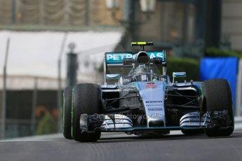 World © Octane Photographic Ltd. Mercedes AMG Petronas F1 W06 Hybrid – Nico Rosberg. Thursday 21st May 2015, F1 Practice 1, Monte Carlo, Monaco. Digital Ref: 1272LB1D3314