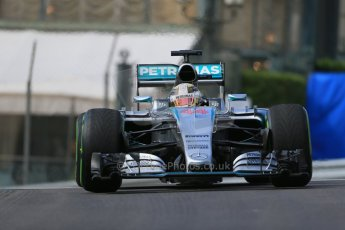 World © Octane Photographic Ltd. Mercedes AMG Petronas F1 W06 Hybrid – Lewis Hamilton. Thursday 21st May 2015, F1 Practice 1, Monte Carlo, Monaco. Digital Ref: 1272LB1D3341