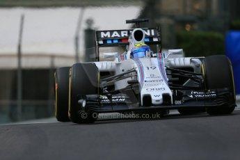 World © Octane Photographic Ltd. Williams Martini Racing FW37 – Felipe Massa. Thursday 21st May 2015, F1 Practice 1, Monte Carlo, Monaco. Digital Ref: 1272LB1D3452