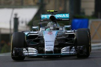World © Octane Photographic Ltd. Mercedes AMG Petronas F1 W06 Hybrid – Nico Rosberg. Thursday 21st May 2015, F1 Practice 1, Monte Carlo, Monaco. Digital Ref: 1272LB1D3502