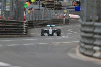 World © Octane Photographic Ltd. Mercedes AMG Petronas F1 W06 Hybrid – Lewis Hamilton. Thursday 21st May 2015, F1 Practice 1, Monte Carlo, Monaco. Digital Ref: 1272LB1D3676