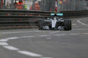 World © Octane Photographic Ltd. Mercedes AMG Petronas F1 W06 Hybrid – Nico Rosberg. Thursday 21st May 2015, F1 Practice 1, Monte Carlo, Monaco. Digital Ref: 1272LB1D3693