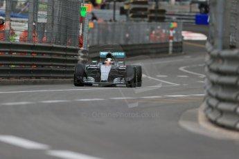 World © Octane Photographic Ltd. Mercedes AMG Petronas F1 W06 Hybrid – Lewis Hamilton. Thursday 21st May 2015, F1 Practice 1, Monte Carlo, Monaco. Digital Ref: 1272LB1D3711