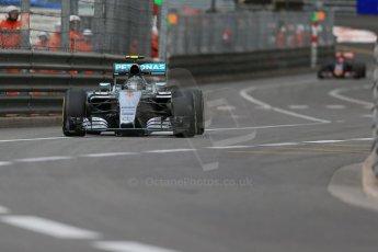 World © Octane Photographic Ltd. Mercedes AMG Petronas F1 W06 Hybrid – Nico Rosberg. Thursday 21st May 2015, F1 Practice 1, Monte Carlo, Monaco. Digital Ref: 1272LB1D3743