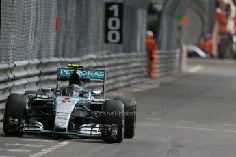 World © Octane Photographic Ltd. Mercedes AMG Petronas F1 W06 Hybrid – Nico Rosberg. Thursday 21st May 2015, F1 Practice 1, Monte Carlo, Monaco. Digital Ref: 1272LB1D3810
