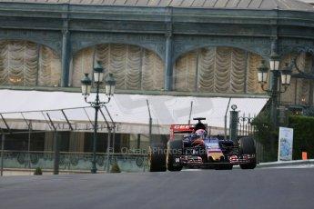 World © Octane Photographic Ltd. Scuderia Toro Rosso STR10 – Max Verstappen. Thursday 21st May 2015, F1 Practice 1, Monte Carlo, Monaco. Digital Ref: 1272LB5D2566
