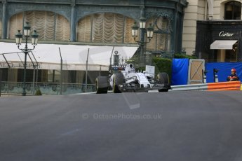 World © Octane Photographic Ltd. Williams Martini Racing FW37 – Valtteri Bottas. Thursday 21st May 2015, F1 Practice 1, Monte Carlo, Monaco. Digital Ref: 1272LB5D2662