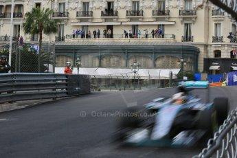 World © Octane Photographic Ltd. Mercedes AMG Petronas F1 W06 Hybrid – Lewis Hamilton. Thursday 21st May 2015, F1 Practice 1, Monte Carlo, Monaco. Digital Ref: 1272LB5D2704