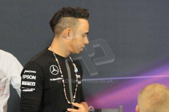 World © Octane Photographic Ltd. Mercedes AMG Petronas F1 – Lewis Hamilton. Wednesday 20th May 2015, FIA Drivers' Press Conference, Monte Carlo, Monaco. Digital Ref: 1271CB1L9259