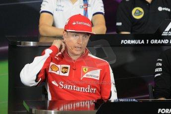 World © Octane Photographic Ltd. Scuderia Ferrari – Kimi Raikkonen. Wednesday 20th May 2015, FIA Drivers' Press Conference, Monte Carlo, Monaco. Digital Ref: 1271CB1L9368