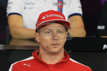 World © Octane Photographic Ltd. Scuderia Ferrari – Kimi Raikkonen. Wednesday 20th May 2015, FIA Drivers' Press Conference, Monte Carlo, Monaco. Digital Ref: 1271CB7D2563