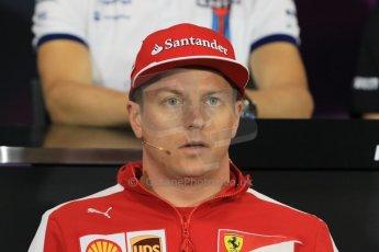World © Octane Photographic Ltd. Scuderia Ferrari – Kimi Raikkonen. Wednesday 20th May 2015, FIA Drivers' Press Conference, Monte Carlo, Monaco. Digital Ref: 1271CB7D2566