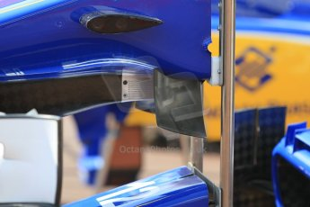 World © Octane Photographic Ltd. Sauber F1 Team C34-Ferrari nose detail. Wednesday 20th May 2015, F1 Pitlane, Monte Carlo, Monaco. Digital Ref:  1270CB1L9144