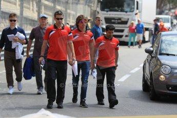 World © Octane Photographic Ltd. Manor Marussia F1 Team MR03 – Roberto Merhi. Wednesday 20th May 2015, F1 Track walk, Monte Carlo, Monaco. Digital Ref: 1270CB1L9195
