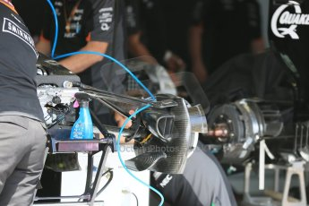 World © Octane Photographic Ltd. Sahara Force India VJM08 front brake. Wednesday 20th May 2015, F1 Pitlane, Monte Carlo, Monaco. Digital Ref:  1270LB5D2467