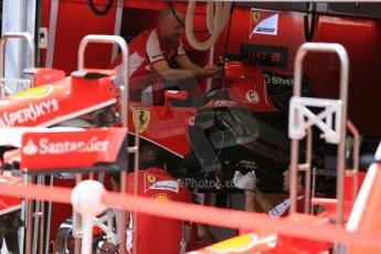 World © Octane Photographic Ltd. Scuderia Ferrari SF15-T angled radiators.. Wednesday 20th May 2015, F1 Pitlane, Monte Carlo, Monaco. Digital Ref: 1270LB5D2534