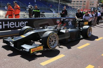 World © Octane Photographic Ltd. Friday 22nd May 2015. GP2/Pirelli 18inch tyre demonstration with Martin Brundle – Monaco, Monte-Carlo. Digital Ref. : 1279CB1L0360