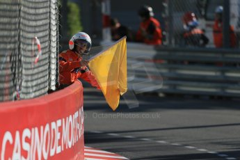 World © Octane Photographic Ltd. Friday 22nd May 2015. DAMS – Nyck de Vries. Flags WSR (World Series by Renault - Formula Renault 3.5) Practice – Monaco, Monte-Carlo. Digital Ref. : 1277LB1D4690