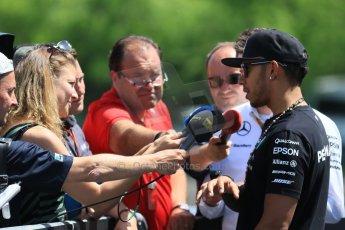 World © Octane Photographic Ltd. FIA Drivers' Press Conference video call. Thursday 4th June 2015, F1 Canadian GP, Circuit Gilles Villeneuve, Montreal, Canada. Mercedes AMG Petronas – Lewis Hamilton. Digital Ref: 1289CB7D8537