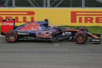 World © Octane Photographic Ltd. Scuderia Toro Rosso STR10 – Max Verstappen. Friday 5th June 2015, F1 Canadian GP Practice 2, Circuit Gilles Villeneuve, Montreal, Canada. Digital Ref: 1292LB1D0156