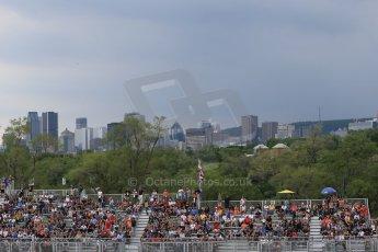 World © Octane Photographic Ltd. City skyline over the grandstands. Friday 5th June 2015, F1 Practice 2, Circuit Gilles Villeneuve, Montreal, Canada. Digital Ref: 1292LB1D0240
