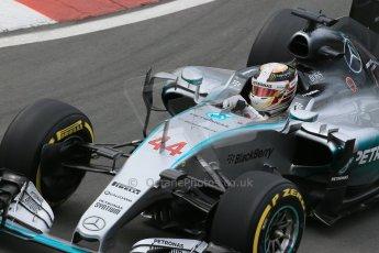 World © Octane Photographic Ltd. Mercedes AMG Petronas F1 W06 Hybrid – Lewis Hamilton. Friday 5th June 2015, F1 Canadian GP Practice 2, Circuit Gilles Villeneuve, Montreal, Canada. Digital Ref: 1292LB1D9851