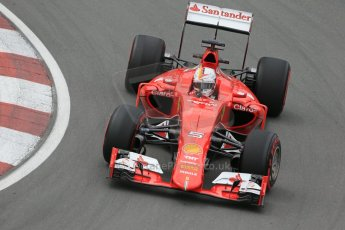 World © Octane Photographic Ltd. Scuderia Ferrari SF15-T– Sebastian Vettel. Friday 5th June 2015, F1 Canadian GP Practice 2, Circuit Gilles Villeneuve, Montreal, Canada. Digital Ref: 1292LB1D9857