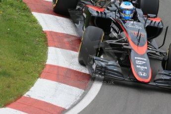 World © Octane Photographic Ltd. McLaren Honda MP4/30 – Fernando Alonso. Friday 5th June 2015, F1 Canadian GP Practice 2, Circuit Gilles Villeneuve, Montreal, Canada. Digital Ref: 1292LB1D9862