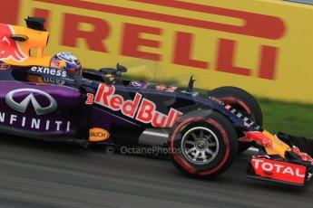 World © Octane Photographic Ltd. Infiniti Red Bull Racing RB11 – Daniel Ricciardo. Friday 5th June 2015, F1 Canadian GP Practice 2, Circuit Gilles Villeneuve, Montreal, Canada. Digital Ref: 1292LB7D0072