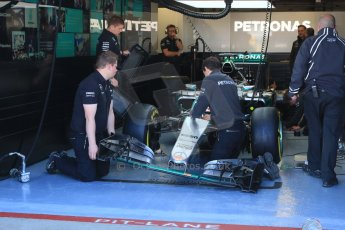 World © Octane Photographic Ltd. Mercedes AMG Petronas F1 W06 Hybrid – Lewis Hamilton. Saturday 6th June 2015, F1 Canadian GP Practice 3 pitlane, Circuit Gilles Villeneuve, Montreal, Canada. Digital Ref: 1295CB7D0733