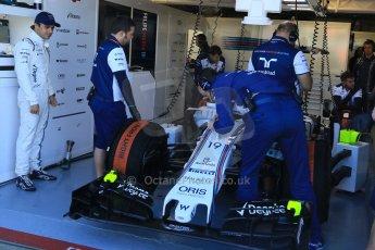 World © Octane Photographic Ltd. Williams Martini Racing FW37 – Felipe Massa. Saturday 6th June 2015, F1 Canadian GP Practice 3 pitlane, Circuit Gilles Villeneuve, Montreal, Canada. Digital Ref: 1295CB7D0788