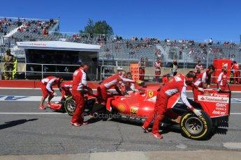 World © Octane Photographic Ltd. Scuderia Ferrari SF15-T– Kimi Raikkonen. Saturday 6th June 2015, F1 Canadian GP Practice 3 pitlane, Circuit Gilles Villeneuve, Montreal, Canada. Digital Ref: 1295CB7D0881