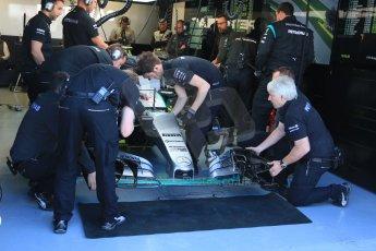 World © Octane Photographic Ltd. Mercedes AMG Petronas F1 W06 Hybrid – Nico Rosberg. Saturday 6th June 2015, F1 Practice 3 pitlane, Circuit Gilles Villeneuve, Montreal, Canada. Digital Ref: 1295CB7D0943