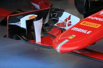 World © Octane Photographic Ltd. Scuderia Ferrari SF15-T nose. Saturday 6th June 2015, F1 Canadian GP Practice 3 pitlane, Circuit Gilles Villeneuve, Montreal, Canada. Digital Ref: 1295LB1D0763