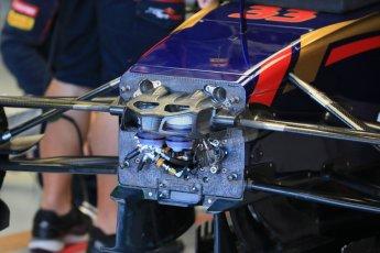 World © Octane Photographic Ltd. Scuderia Toro Rosso STR10 – Max Verstappen. Saturday 6th June 2015, F1 Canadian GP Practice 3 pitlane, Circuit Gilles Villeneuve, Montreal, Canada. Digital Ref: 1295LB1D0787