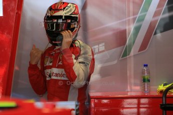 World © Octane Photographic Ltd. Scuderia Ferrari SF15-T– Kimi Raikkonen. Saturday 6th June 2015, F1 Canadian GP Practice 3 pitlane, Circuit Gilles Villeneuve, Montreal, Canada. Digital Ref: 1295LB1D1010