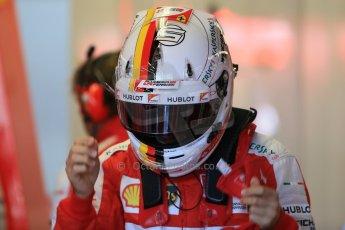 World © Octane Photographic Ltd. Scuderia Ferrari SF15-T– Sebastian Vettel. Saturday 6th June 2015, F1 Canadian GP Practice 3 pitlane, Circuit Gilles Villeneuve, Montreal, Canada. Digital Ref: 1295LB1D1031