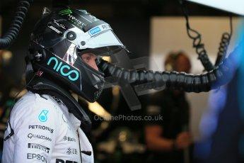 World © Octane Photographic Ltd. Mercedes AMG Petronas F1 W06 Hybrid – Nico Rosberg. Saturday 6th June 2015, F1 Practice 3 pitlane, Circuit Gilles Villeneuve, Montreal, Canada. Digital Ref: 1295LB1D1237
