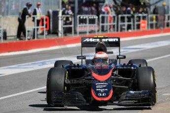World © Octane Photographic Ltd. McLaren Honda MP4/30 - Jenson Button. Saturday 6th June 2015, F1 Canadian GP Practice 3 pitlane, Circuit Gilles Villeneuve, Montreal, Canada. Digital Ref: 1295LB1D1281