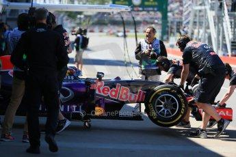 World © Octane Photographic Ltd. Infiniti Red Bull Racing RB11 – Daniil Kvyat. Saturday 6th June 2015, F1 Canadian GP Practice 3 pitlane, Circuit Gilles Villeneuve, Montreal, Canada. Digital Ref: 1295LB1D1332